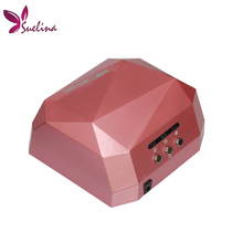 Suelina Nail Dryer&FREE SHIPPING With Retail Box !36W LED CCFL Nail Dryer Light  Dimond Shape UV Lamps Drying Gel Polish Tools