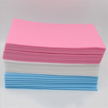 Permanent Makeup 10Pcs/Lot Disposable White Blue Pink Sterile Fitted Bed Sheets Cover Massage Table Facial Chair Spa 80cm*180cm(China)