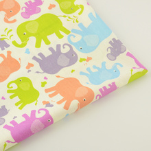New Arrivals Printed Elephant Designs Cotton Fabric Twill Fabrics Bedding Scrapbooking Decoration Home Textile Patchwork Sewing