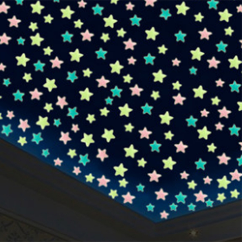 Luminous Moon & Stars DIY Wall Stickers