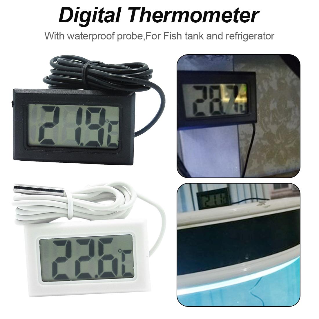 100PCS//LOT LCD Display Car refrigerator aquarium fish tank embedded electronic digital thermometer