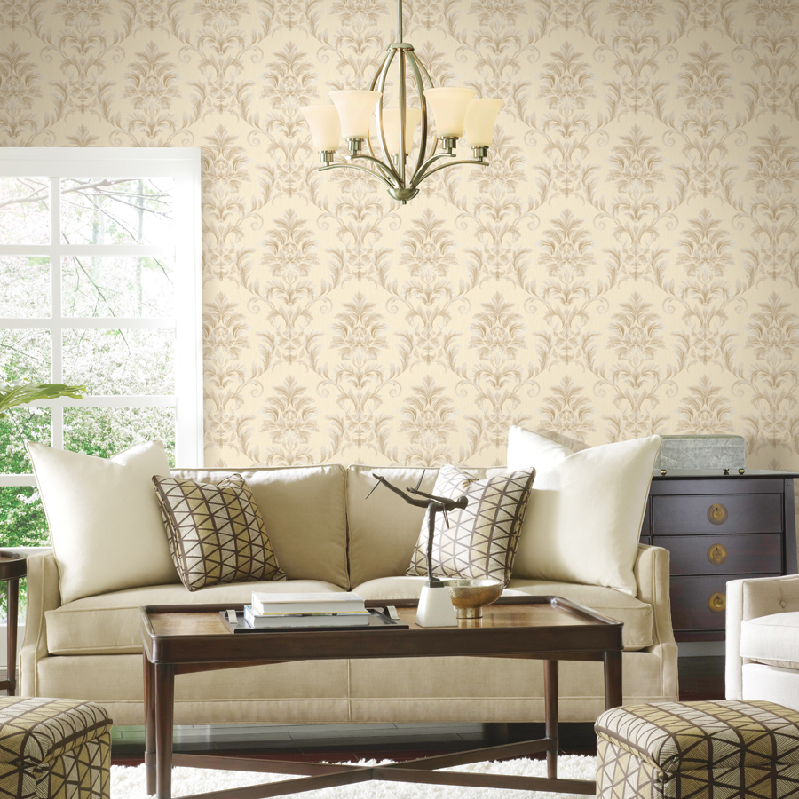 European Style 3d Embossed Wallpaper For Living Room 3d Flower Leaf Bedroom Wallpaper Nature Pvc Wallpaper Roll Papel De Parede<br>