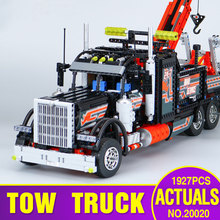 Lepin 20020 Technic Ultimate Series The Mechanical American Style Heavy Container Trucks Building Blcoks Bricks Toys 8258 Gifts(China)