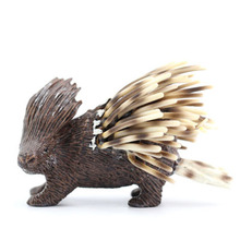 Original genuine wild animal mammal Old World porcupine figures collectible figurine kids educational toys(China)