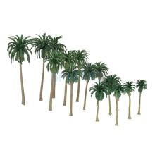 15pcs Multi Gauge Model Coconut Palm Trees HO O N Z Scale Scenery