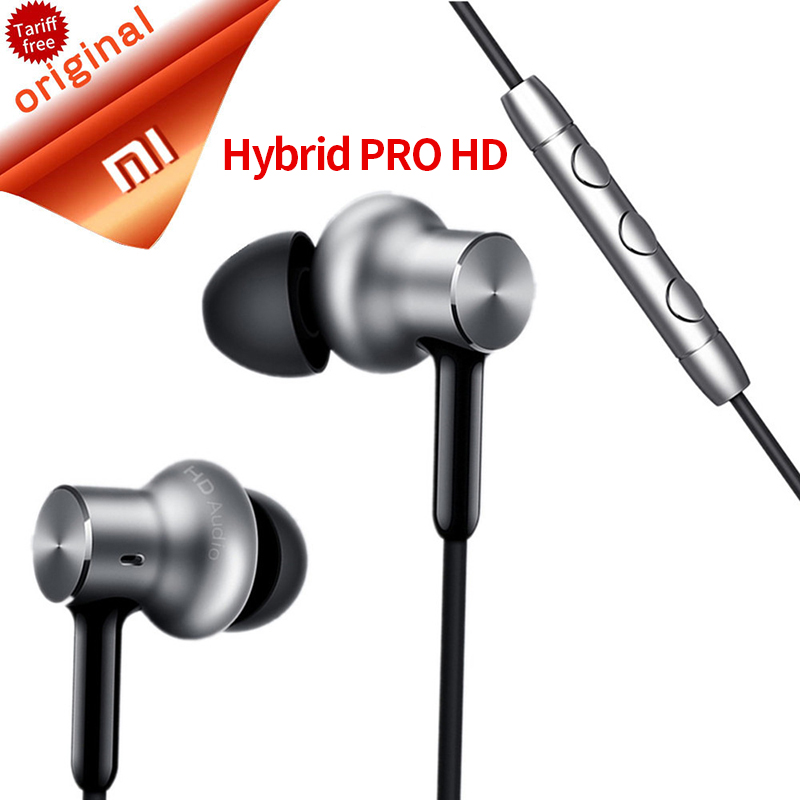 Original Xiaomi Hybrid Pro HD Earphone/Mi In-ear Earphones Pro Circle  Wired With Mic Dual Driver for xiaomi redmi 4 K20(China)