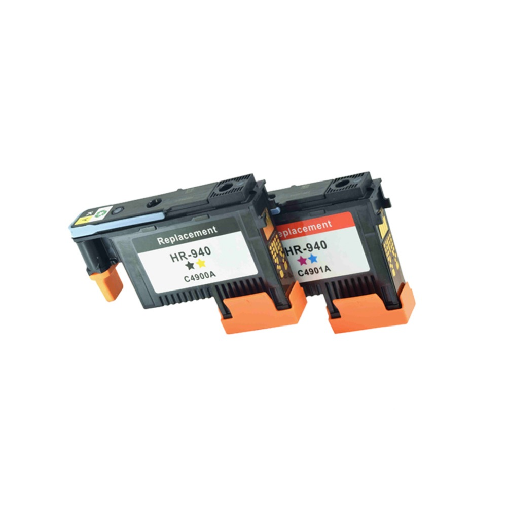 1set 2PC Work excellently print head for HP940 C4900A C4901A for hp 940 printhead For HP 8000 8500 8500A (Yellow / Black+Cyan /<br>