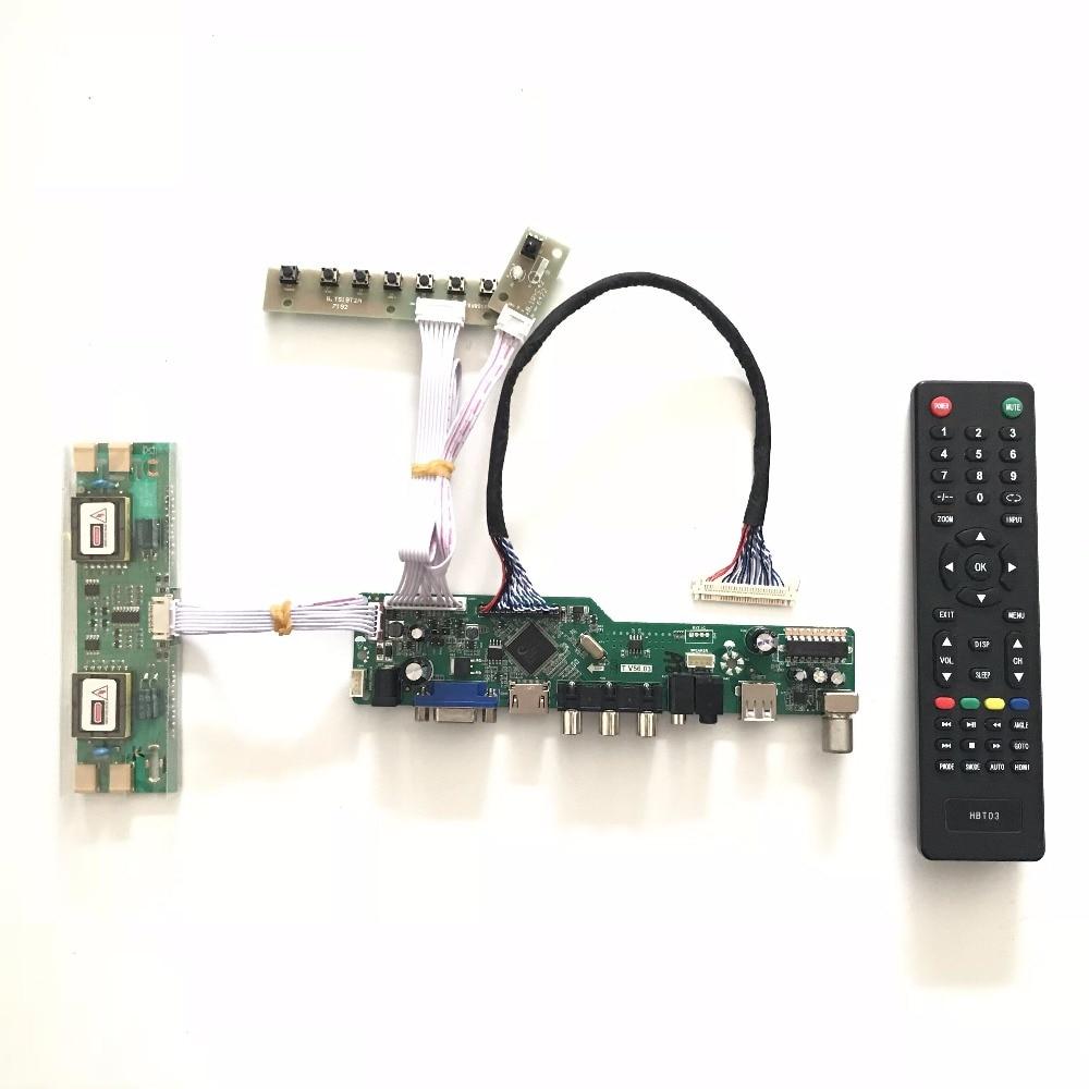 Free shipping T.V56.03 VGA HDMI AV Audio USB TV LCD Controller Board for 24inch 1920x1080 M240HW01 V0 V2 4CCFL LVDS Monitor Kit <br>