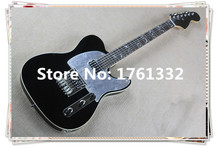 2015 hot sale +factory custom black electric guitar with 2 open humbucking and mirror surface can be cusomized as your request