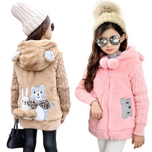 2017 New Girls clothing Baby Coats for Girls Flower Jackets For Spring Autumn Kids Clothes Double-Breasted Top children Outwear