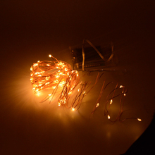 10M 100 led 3 X AA Battery Powered Decorative LED Copper Wire Fairy String Lights Warm White White for Christmas Wedding Parties