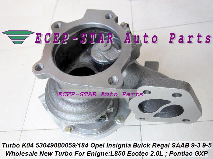 K04 53049880059 53049880184 Opel GT Insignia Pontiac Solstice GXP SAAB 9-3 9-5 L850 (5)