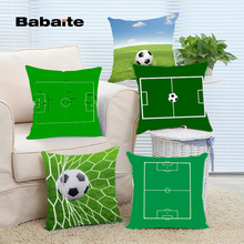 Babaite Soccer Field Football Pitch Green Square Luxury Printing Throw Pillow Case for Living Room Bed Room Great Gift for Fans(China)