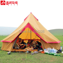 8-12 persons super large mongolian dome yurt anti rain self-driving travel outdoor camping tent camping family,family party tent