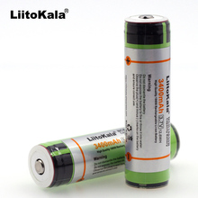 Liitokala 4 pcs. Original 18650 3.7 V 3400 mAh NCR18650B Lthium Batteries Electronic Cigarette Batteries Plus Protection and Con