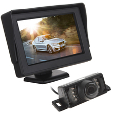 4.3 Inch HD Digital Panel Car Rearview LCD Monitor + 7 IR Lights Night Vision Car Rear View Reversing Camera(China)