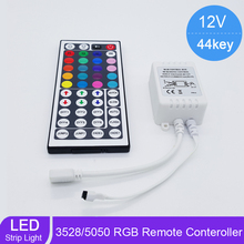 New 44 Keys LED IR RGB Controller For RGB SMD 3528 5050 Strip LED Lights Controller IR Remote Dimmer Input DC12V 6A