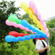 CCINEE 50 PC Long Balloon Thicken Screw Thread Latex Balloon Float Ball Wedding Birthday Party Baloon Decoration Kid Globos Toys