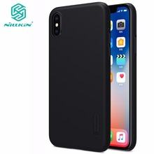 SFor Apple iphone X case NILLKIN Super Frosted Shield matte back cover iphone X case with free screen protector +Retail package(China)