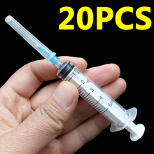 20pcs 5ml (0.6x25mm) HUMAN Plastic Syringe Steriled with needle, can also used for Animal & Pet Bird Syringe