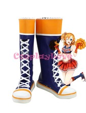 Newest Custom Made Japanese Anime Lovelive! Paradise Live Kousaka Honoka Cheerleader Cosplay Shoes Boots For Halloween Christmas