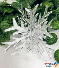 Christmas festive decorations window display scene layout scene layout plexiglass three - dimensional snowflakes