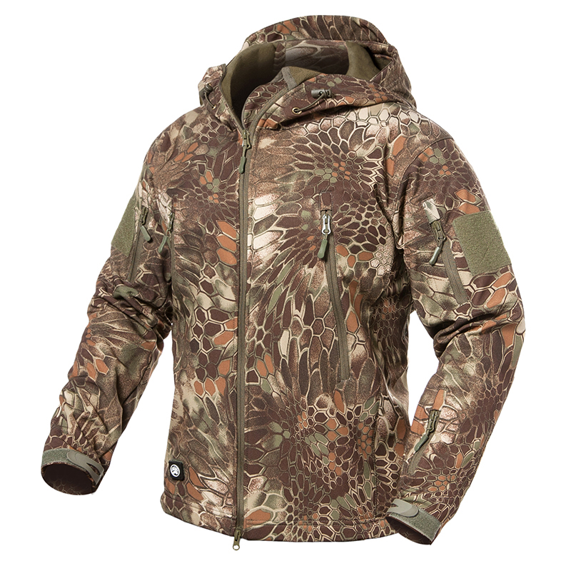 ReFire-Gear-Soft-Shell-Snake-Camouflage-Jacket-Men-Waterproof--Tactical-Jackets-Winter-Army-Clothing-Hoodie
