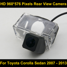 PAL HD 960*576 Pixels high definition Parking Rear view Camera for Toyota Corolla Sedan 2007 2008 2009 2010 2011 2012 2013 Car(China)