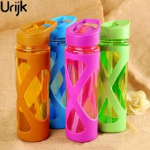 Urijk 580ml New Seal Straw Sport Water Bottle Anti Hot Leak Proof Plastic Sleeve Drink Bottle Eco-friendly Protein Powder Shaker(China)