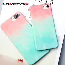 LOVECOM Colorful Geometric Triangles & Mix Color PC Hard Scrub Thin Anti Shock Mobile Phone Cases For iPhone 7 7 Plus 6 6S Plus