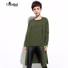 Winter sweater women Loose two pieces of knitted sweater woman cardigan sweater clothing 2017 long sweater cashmere WXTCST1311