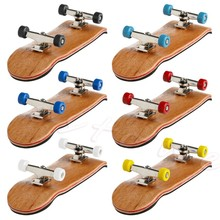 Style Wooden Deck Fingerboard Skateboard Sport Games Kids Gift Maple Wood New(China)