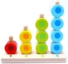 BOHS Counting Stacker Montessori Early Learning Pairing Baby Toy Building Blocks Colour & Basic Math(China)
