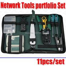 WLXY 11/pcs Network Cable Computer Cable Tester Diagnostic Tool Kit Box Free shipping(China)