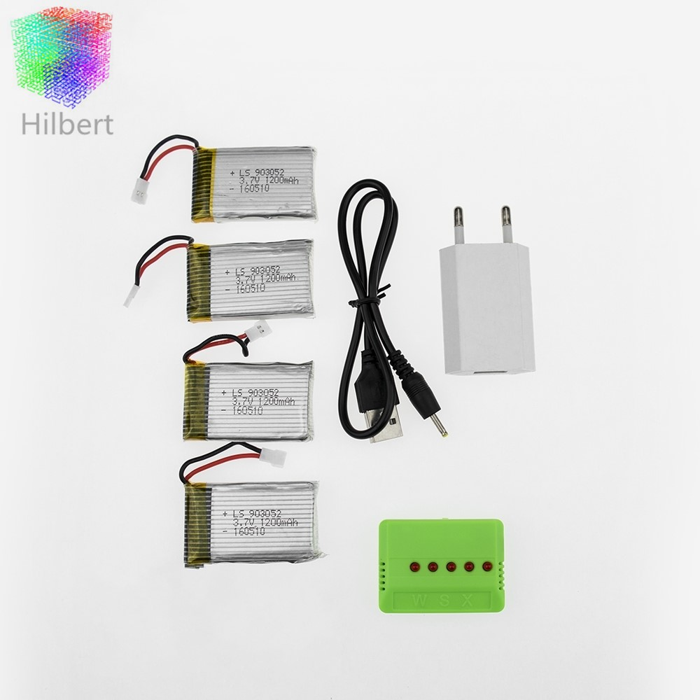 4pcs 3.7V 1200mAh Lipo Battery With X5 Charger And Usb Power Adapter For Syma X5SW X5SC X5SC-1 RC Quad Drone <br><br>Aliexpress