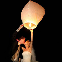 10pcs/lot Chinese Handcraft White Wish Sky Paper Lanterns For Wedding Proposal Party Decoration DIY Air Hot Balloon For Outdoor