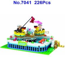 7041 226pcs City Modern Paradise Whirling Duckling Girl Friend Building Block Brick Toy(China)