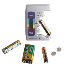 Universal Digital Battery Tester Battery Capacity Tester For AA/AAA/1.5V 9V Lithium Battery Power Supply Measuring(China)