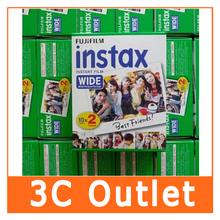 Original Fujifilm Instax Wide Film 20 Sheets photo paper For Fuji Instant Photo Camera 300/200/210/100/500AF,free shipping(China)