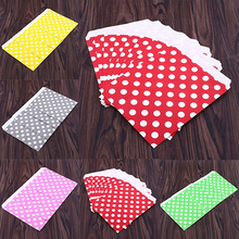 25Pcs Polka Dot Treat Candy Favor Sacks Paper Bags for Party Wedding Birthday(China)