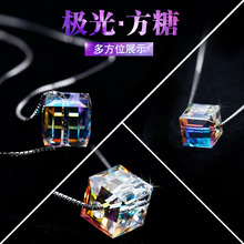 Fashion jewelry Best Quality 100% 925 sterling silver Crystals From Swarovski Pendant Necklaces Women Handmade Maxi Collares(China)