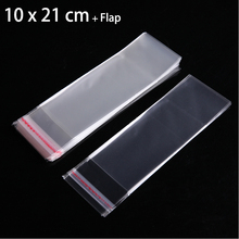 "100 Pcs 10 x 21 cm Crystal Clear Poly Plastic Bags 3.94"" x 8.27"" OPP Self Adhesive Seal Cello Bags"