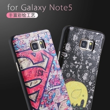 Colorful Bag For Samsung Galaxy Note5 Note 5 Phone Case 3D Embossing Soft Silicone TPU Back With Dust Plug Back Cover Cases