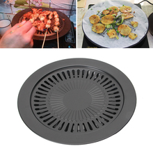 Non-stick Gas Grill Pan Refined Iron for Barbecue BBQ Plate Healthy Smokeless Roasting Outdoor Cooking Tool