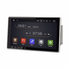 "10.1"" Android 7.1 Car Radio DVD Multimedia Player GPS Receiver 2G RAM 16G ROM RDS BT 4.0 WIFI 4G OBD DVR 1080P SWC Quad Core(China)"