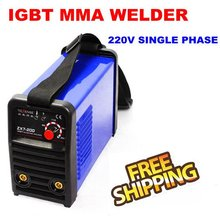 Free Shipping Digital Dsplay 200amp Real AMP Single Phase Welder Inverter ARC Welding Machines for Welding