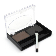 Contour Corretivo 2 Color Eye Brow Cake Makeup Waterproof Eyebrow Powder/ Shadow Palette With Double End Brush Eyebrow Enhancer