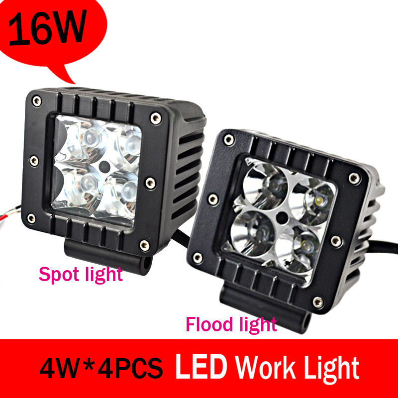 Hot Sale Super bright  square 16W offroad offroad LED work light,working lamp,Fog light kit  <br><br>Aliexpress