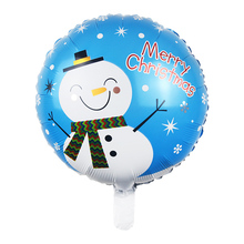 Hot 1pc/4pcs  Round Santa Claus Snowman Tree Helium Inflatable Foil Balloon Merry Christmas Party Decor Children Gift Kids Toy