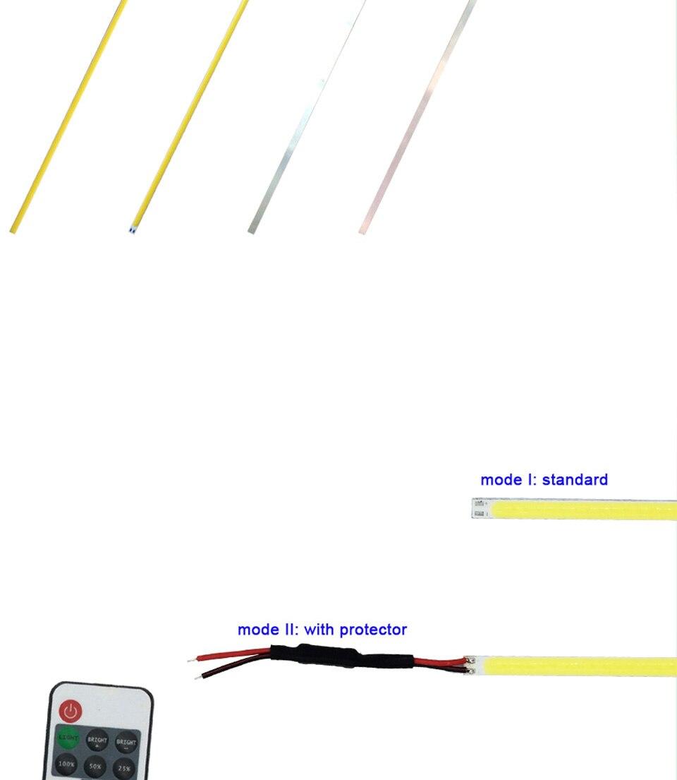 dc 12v 10w 20w 60cm 40cm 30cm 20cm cob led strip car light (7)